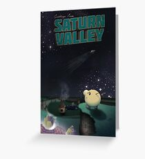 Greetings from Saturn Valley Greeting Card