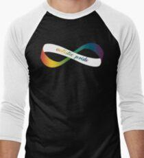 Autistic Pride Infinity Möbius Men's Baseball ¾ T-Shirt