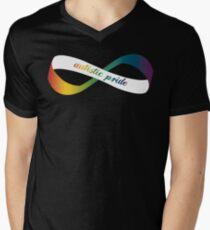 Autistic Pride Infinity Möbius Men's V-Neck T-Shirt