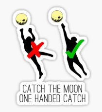 Catch the moon Sticker