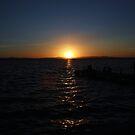 Spanish sunset by shortarcasart