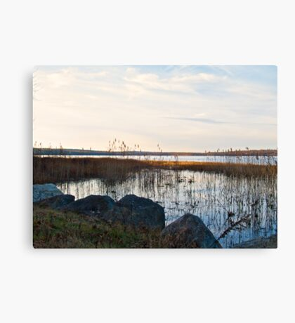 Worden's Pond At Sunset - Series - NW - Southern Rhode Island Canvas Print