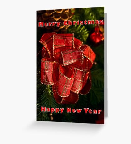 Holiday ribbon - Christmas card Greeting Card