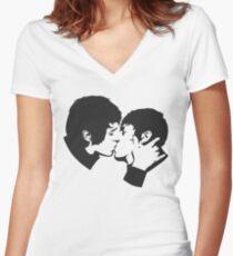 SebastiAn - Total (Stencil 2) Women's Fitted V-Neck T-Shirt