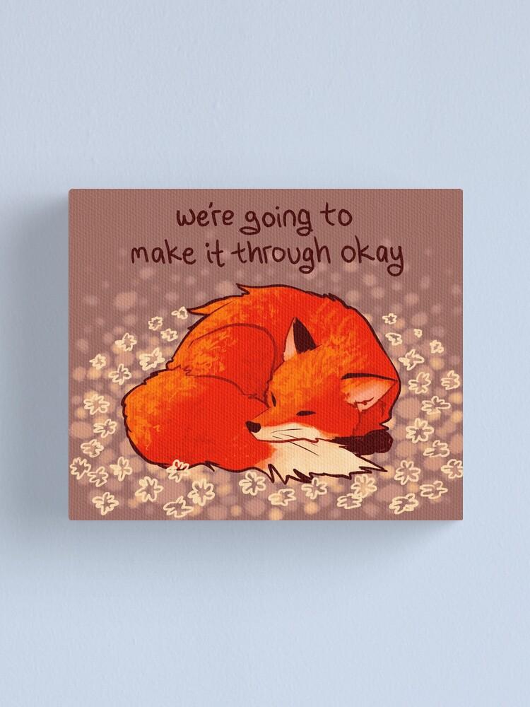 "Alternate view of ""We're Going to Make it Through Okay"" Sleeping Flower Fox Canvas Print"
