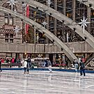 Skating at Holiday Time in Nathan Phillips Square, Toronto by Gerda Grice