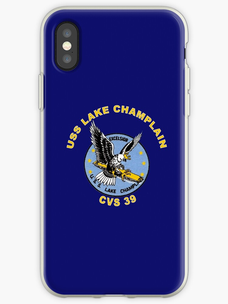 more photos d2dbe fdfc1 'USS Lake Champlain (CV/CVA/CVS-39) Crest' iPhone Case by Nikki  SpaceStuffPlus