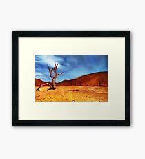 Burnt Landscape Framed Print