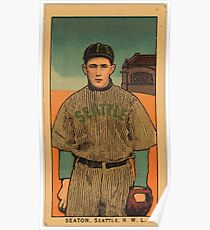 Benjamin K Edwards Collection Seaton Seattle Team baseball card portrait Poster