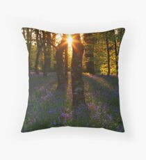 Bluebells at Sunset Throw Pillow