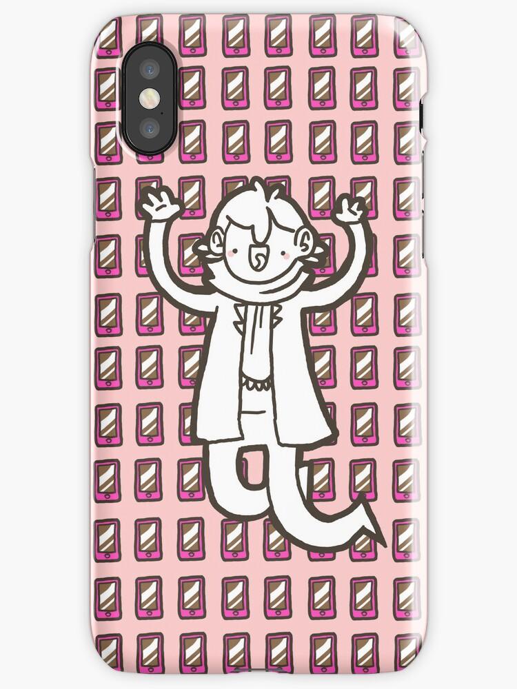 Sherlock/Pink Phone iPhone Case by geothebio
