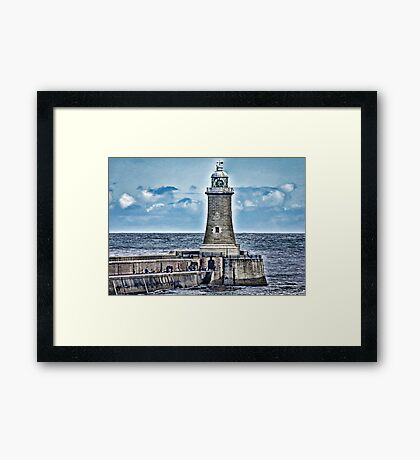 Harbour Light - Tynemouth. Framed Print