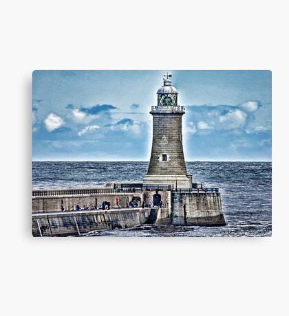 Harbour Light - Tynemouth. Canvas Print
