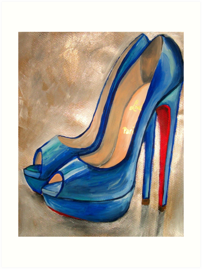 ff328981a0d Christian Louboutin Electric Blue Red Bottom Peep Toe Pumps