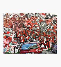Unbelievable red graffiti Photographic Print