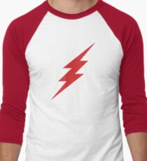 red lightning Baseball ¾ Sleeve T-Shirt