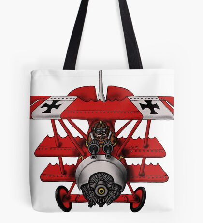 Red Baron airplane funny cartoon Tote Bag