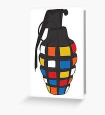 Rubik's Grenade Greeting Card