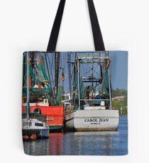 Shrimp Boats Tote Bag