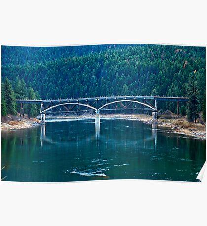 Railroad Bridge, Sanders County, Montana, USA Poster