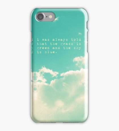 Green Sky Thinking iPhone Case/Skin