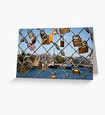 Love Padlocks in Paris Greeting Card