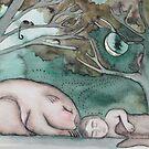 Wombat and Boy by Miesha