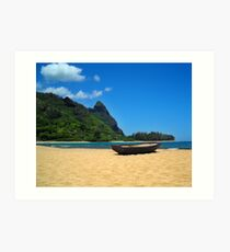 Boat and Bali Hai Art Print