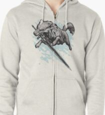The Swordswolf Zipped Hoodie