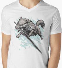 The Swordswolf Men's V-Neck T-Shirt