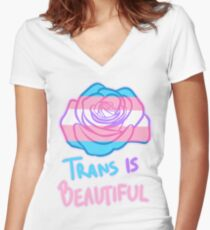 Trans Is Beautiful Women's Fitted V-Neck T-Shirt