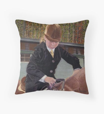 Remember When... Horse and Child Painting Throw Pillow