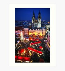 Prague Christmas Markets Art Print
