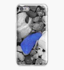 Seaglass (black and white) iPhone Case/Skin