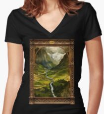 The Ring is taken to Rivendell Women's Fitted V-Neck T-Shirt