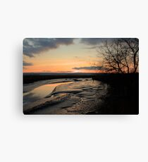 Padilla Bay Estuary at Dusk Canvas Print