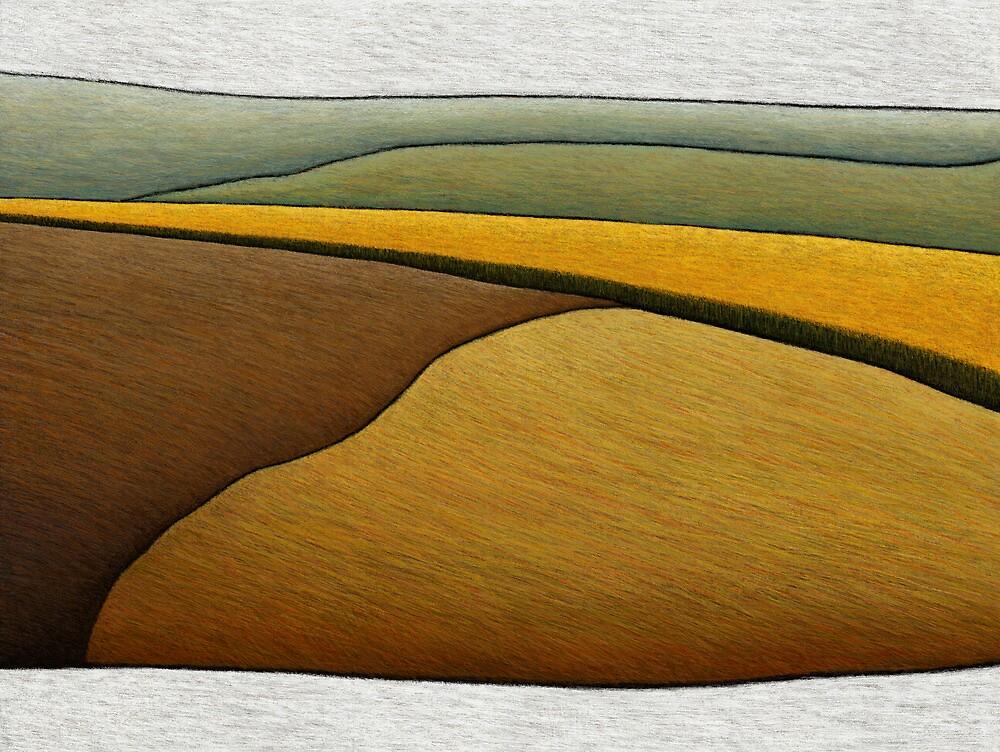Distant Canola Crop by Julian Newman