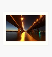 Under the Bridge - Iron Cove Art Print