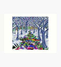 """Christmas Tree Path"" Art Print"