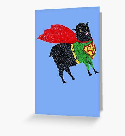Superhero  Sheep Greeting Card