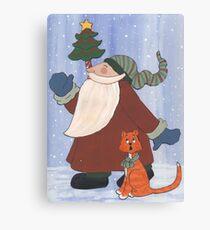 Juggling Santa Canvas Print