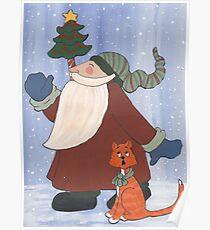 Juggling Santa Poster