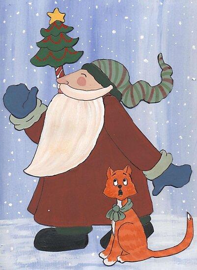 Juggling Santa by redqueenself