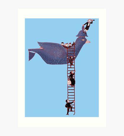 Bird Rescue Boat Art Print