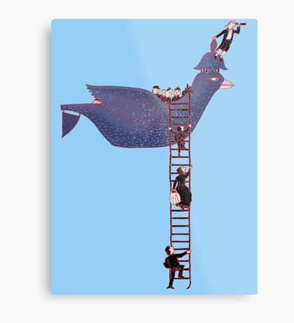 Bird Rescue Boat Metal Print