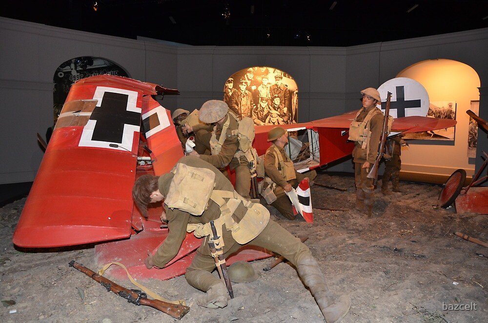 Quot Ww1 Plane Destroyed Diorama Quot By Bazcelt Redbubble