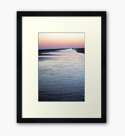 Tide Going Out... Framed Print