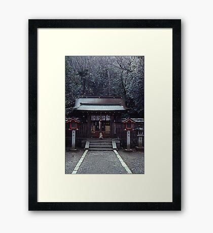 Small shrine, Arashiyama Framed Print