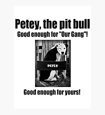 Petey the Pit Bull Photographic Print