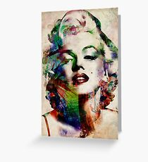 Marilyn Monroe Urban Art Greeting Card